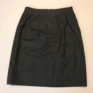 Jil Sander Gray Wool/Silk Skirt Italian Sz 36